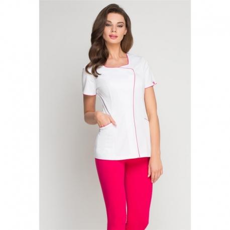 Туника белая с розовым