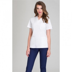 Блуза медицинская белая