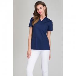 Блузка медицинская тёмно-синяя