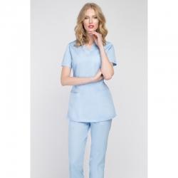 Блуза медицинская светло-голубая