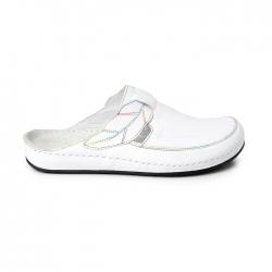 Ortopeedilised jalatsid naistele valged GEL+Memory Foam