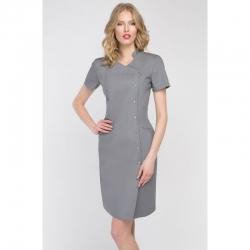 Платье-халат серое