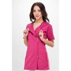 Рабочая женская одежда - медицинская блуза Фуксия