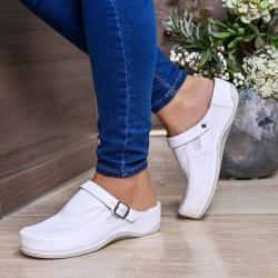 Ортопедическая обувь с ремешком женская белая