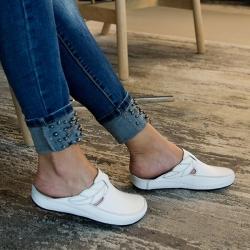 Ортопедическая обувь женская белая Гель+Пена с памятью